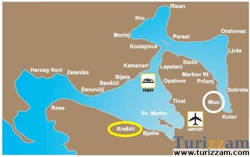 krasici crna gora mapa Apartmani Krasici, Apartmani Krasici | Leto 2018 Crna Gora  krasici crna gora mapa